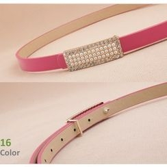 Goldenrod - Faux Pearl Slim Belt
