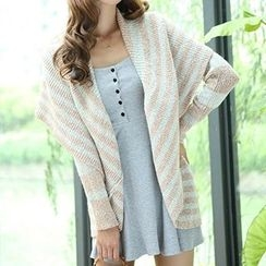 Isadora - Striped Open Front Cardigan