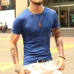 Mannmix - 針織短袖T恤