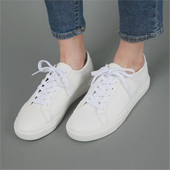 Styleberry - Faux-Leather Sneakers