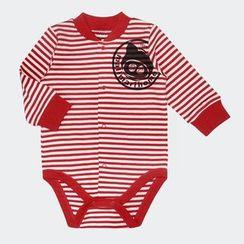 malimarihome - Baby Long-Sleeve Striped Bodysuit