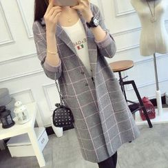 FR - Check Long Cardigan