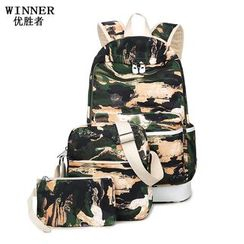 VIVA - Set: Camo Backpack + Crossbody Bag + Pouch