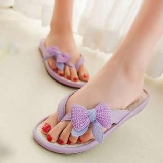 Pangmama - Bow-Accent Flip-Flops