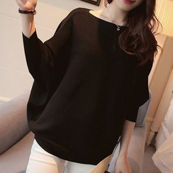 Bubbleknot - Plain Batwing Sweater