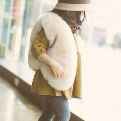 Fluff Snowy - Kids Faux-Fur Vest