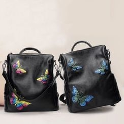 AIDO - Butterfly Genuine Leather Backpack