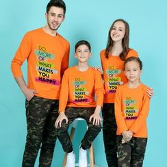 Panna Cotta - Lettering Long Sleeve Family Matching T-Shirt
