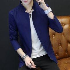 Alvicio - Plain Stand-collar Jacket