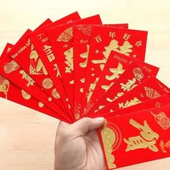 Good Living - Printed Red Envelope Set (6 Sheet)