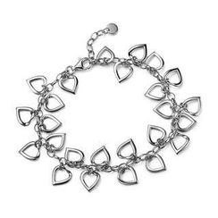 MBLife.com - Left Right Accessory - 925 Sterling Silver Hollow Heart Chain Bracelet (6.5') Women Jewellery