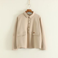 Mushi - Half-Placket Long-Sleeve Shirt