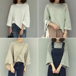 Shine On Me - Bell-Sleeve Plain T-shirt