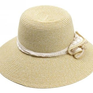 Momiton - Corsage-Accent Lace-Trim Sun Hat