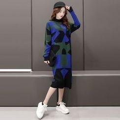 Romantica - Color-Block Sweater Dress