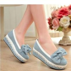 Freesia - Platform Denim Loafers