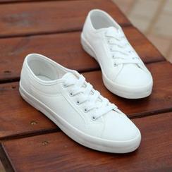 Klesky - 纯色帆布休閒鞋