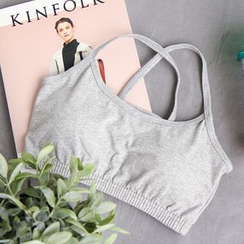 CLICK - Cotton Padded Bandeau Top