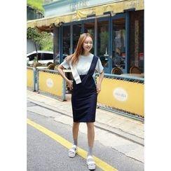 BBORAM - Contrast Trim Jumper Skirt