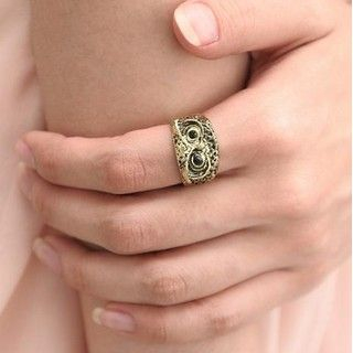 SO Central - Rhinestone Owl Ring