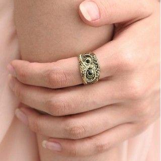 SO Central - Rhinestone Owl Ring