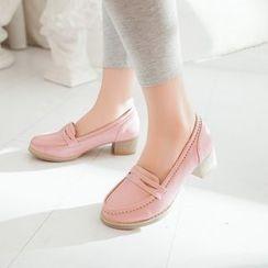 Pastel Pairs - 粗跟樂福鞋