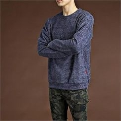THE COVER - Round-Neck Fleece-Lined T-Shirt