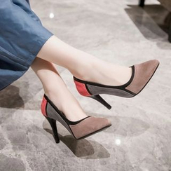 JY Shoes - Colour Block High Heel Pumps