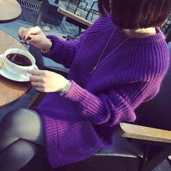 anzoveve - Round-Neck Long Sweater