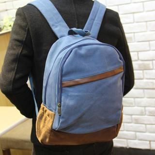 MURATI - Canvas Color-Block Backpack