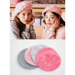 icecream12 - Furry Wool Blend Beret
