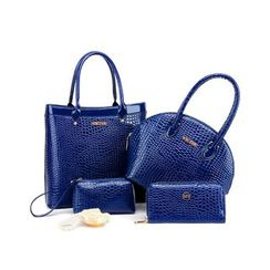 LineShow - Set of 4: Square Tote + Tote + Cosmetic Bag + Long Wallet