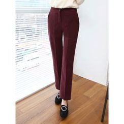 LOLOten - Banded-Waist Flat-Front Dress Pants