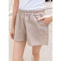 J-ANN - Band-Waist Pocket-Side Shorts