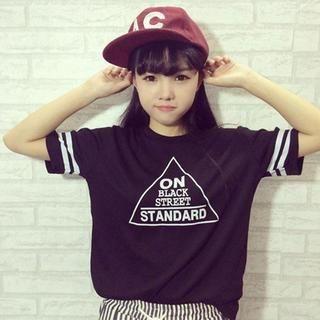 QZ Lady - 'On Black Street' Printed T-Shirt