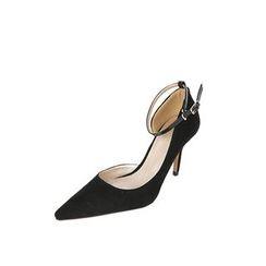 DABAGIRL - Ankle-Strap Faux-Suede Stilettos