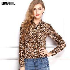 LIVA GIRL - 豹紋印花襯衫