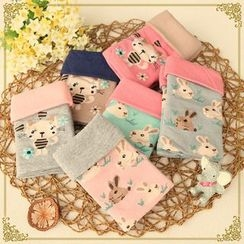 Fairyland - Animal Printed Fleece-lined Mittens