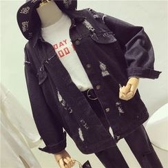 Octavia - 做舊牛仔夾克