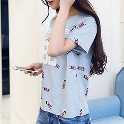 Arroba - Short-Sleeve Print T-Shirt