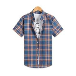 TheLees - Short-Sleeve Button-Down Check Shirt