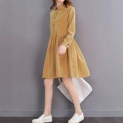 Fancy Show - 长袖灯芯绒连衣裙
