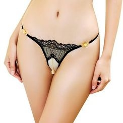 Windbelle - Crystal Drop Lace Thongs