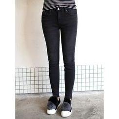 STYLEBYYAM - Frayed-Hem Skinny Jeans
