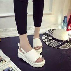 MANMANNI - Faux-Leather Platform Sandals