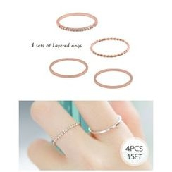 Miss21 Korea - Set of 4: Slim Ring