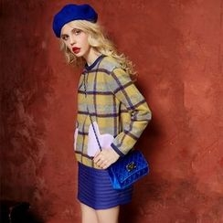 ELF SACK - Long-Sleeve Plaid Dress