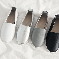 NANING9 - Faux-Leather Slip-Ons