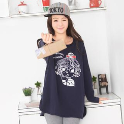59 Seconds - Long-Sleeve Girl Embroidered T-Shirt