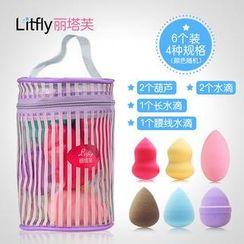 Litfly - Foundation Sponge Set (Random Shape and Color) (6 pcs)